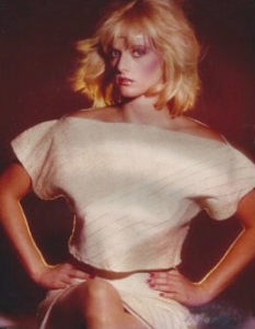 Lisa Blount modeling clothing by Karen Schless Pressley